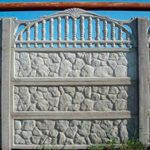 бетонные заборы серые