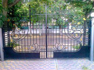 Распашные ворота фото № 1-37