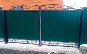 Распашные ворота фото № 1-51