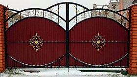 ворота распашные ковка