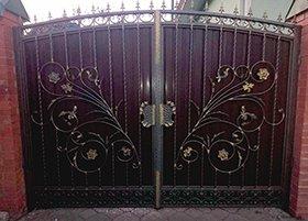 ворота профнастил киев
