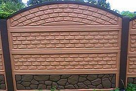 Забор из бетона декоративные панели