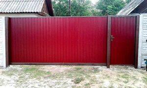 Откатные ворота фото 1-31