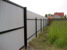 Забор из профнастила комбинированный (тыльная сторона с двумя и тремя (усиленный) монтажными рейками)